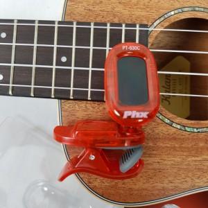 Afinador de Clipe PHX Cromático Digital PT 630C Red