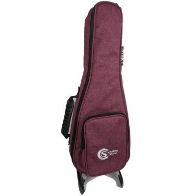 Capa ukulele Custom Sound para soprano vermelha