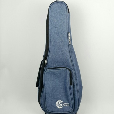 Capa ukulele Custom Sound para soprano azul