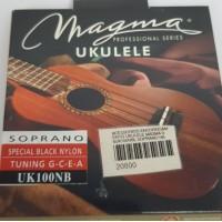 Cordas para ukulele Magma Soprano Uk100NB Nylon Preta