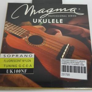 Cordas para ukulele Magma Soprano Uk100NF  Nylon Fluorecente