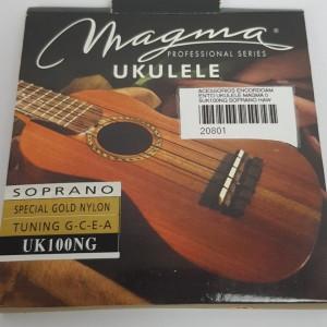Cordas para ukulele Magma Soprano Uk100NG Nylon Golden