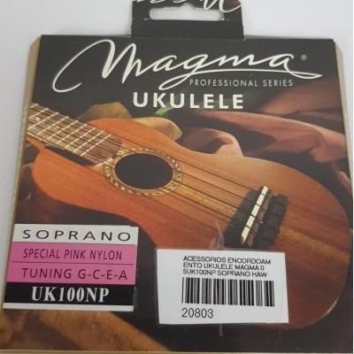 Cordas para ukulele Magma Soprano Uk100NP Nylon Rosa