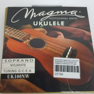 Cordas para ukulele Magma Soprano Uk100NW Nylon Branca