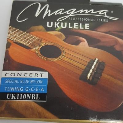 Cordas para ukulele Magma Tenor Uk120NBL  Nylon  Azul