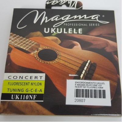 Cordas para ukulele Magma Concert Uk110NF  Nylon Fluorecente