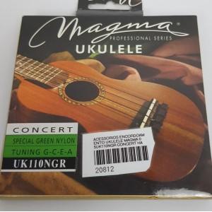 Cordas para ukulele Magma Concert Uk110NGR  Nylon  verde