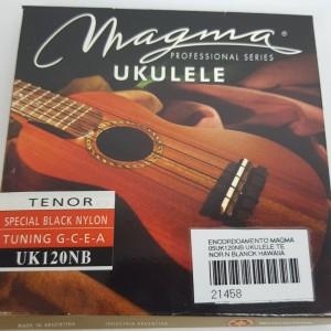 Cordas para ukulele Magma Tenor Uk120NB  Nylon  Preta
