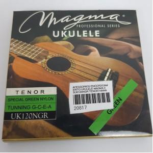 Cordas para ukulele Magma Tenor Uk120NGR  Nylon  Verde