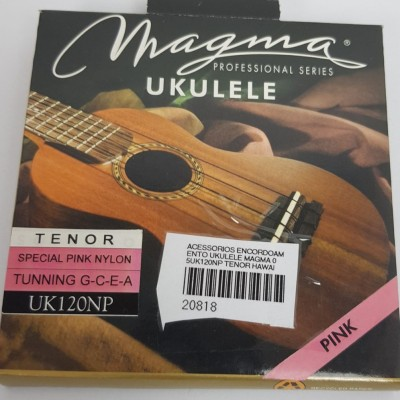 Cordas para ukulele Magma Tenor Uk120NP  Nylon  Rosa