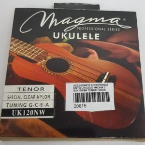 Cordas para ukulele Magma Tenor Uk120NW  Nylon  Branca