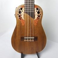 Ukulele Akahai Concert Akv 23E  Ovangkol Eletro-acustico Concert Tampo Maciço
